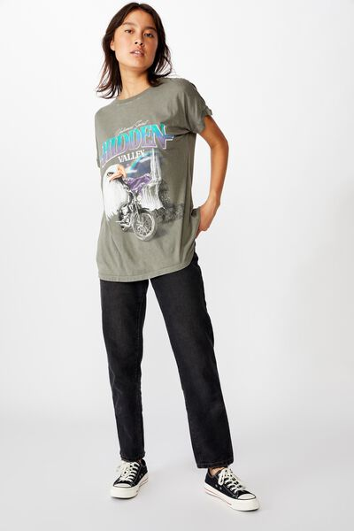 90S Loose Fit Graphic Tee, HIDDEN VALLEY/SLATE GREY