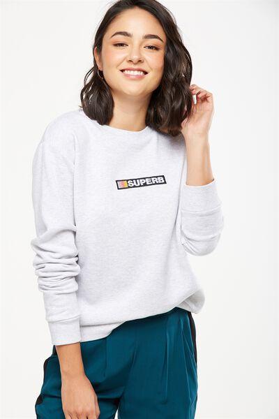 Ferguson Graphic Crew Sweater, SUPERB/SILVER MARLE