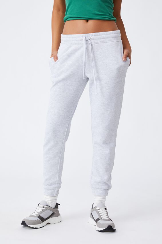 Slim Fit Trackpant, SILVER MARLE