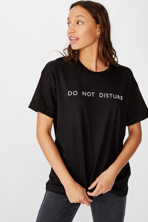 The Personalised Relaxed Boyfriend Tee, BLACK
