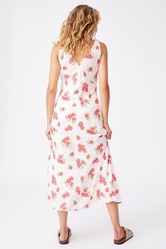 Woven Marcy Strappy Maxi Dress, GEORGIA DAISY WHITE RED