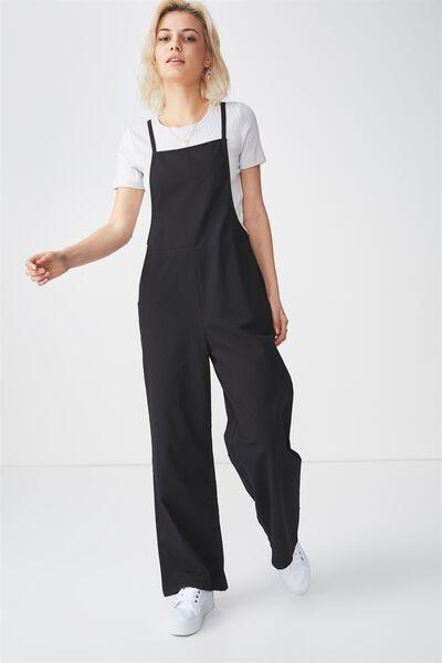 Woven Phoebe Jumpsuit, BLACK