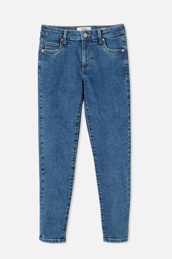 Mid Rise Cropped Skinny Jean, COOGEE BLUE