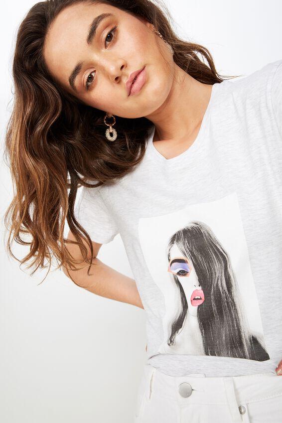 Classic Arts T Shirt, KARLIE LIPS/SILVER MARLE