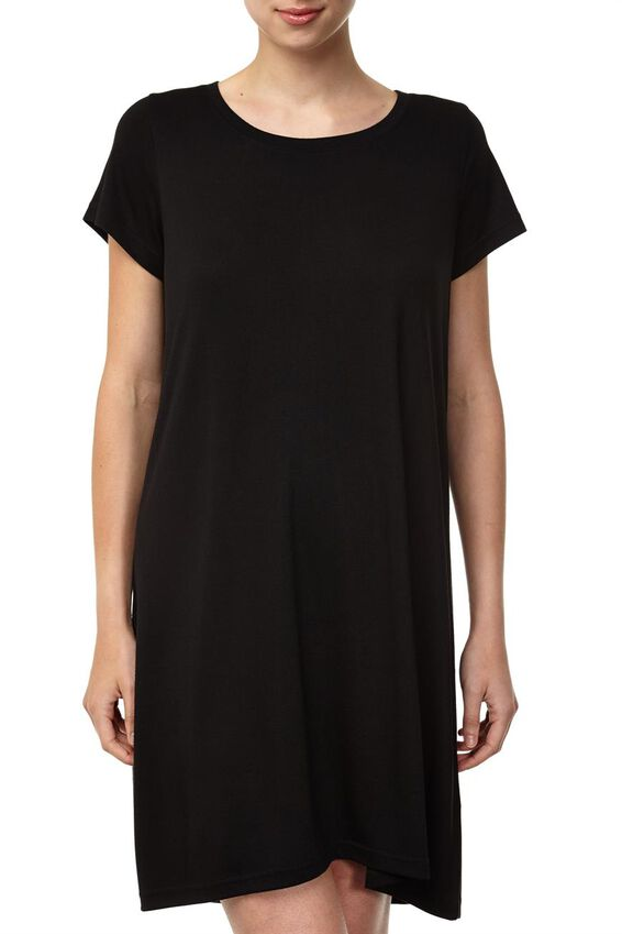 Tina Tshirt Dress 2, BLACK
