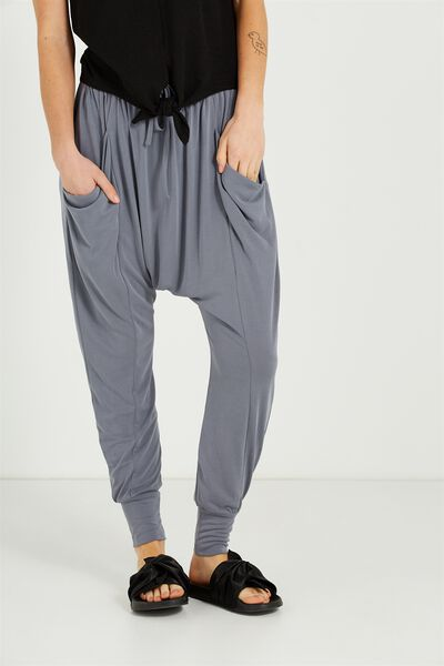Slouch Jersey Pant, CEMENT