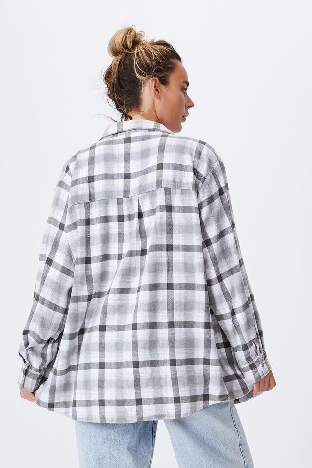 Boyfriend Shirt, JAMIE CHECK ASH GREY