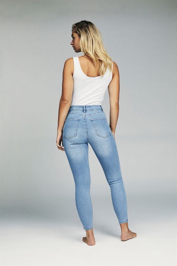 High Rise Cropped Skinny Jean, VALLEY MID BLUE