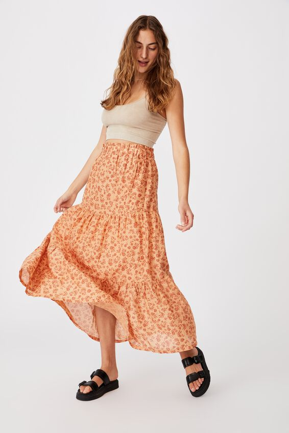 Float On Maxi Skirt, ALEX FLORAL SUMMER SAND