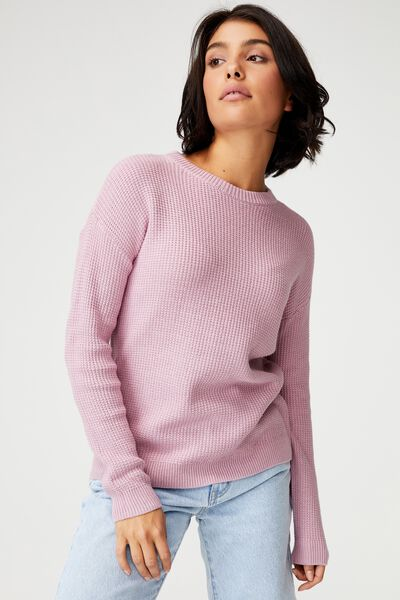 Cotton Pullover, SOFT MAUVE