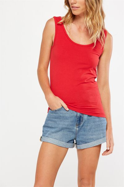 Everyday Tank Top, CHERRY RED
