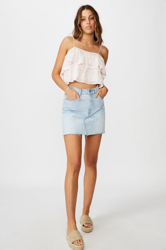 Field Days Lace Frill Cami, ICY FROZE