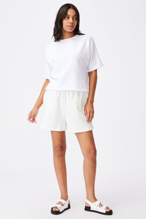 Clubhouse Ss Fleece, WHITE