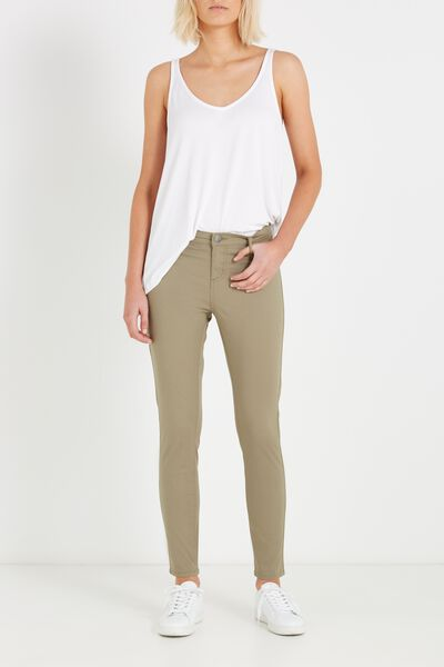 Mid Rise Jegging, SATEEN SOOT