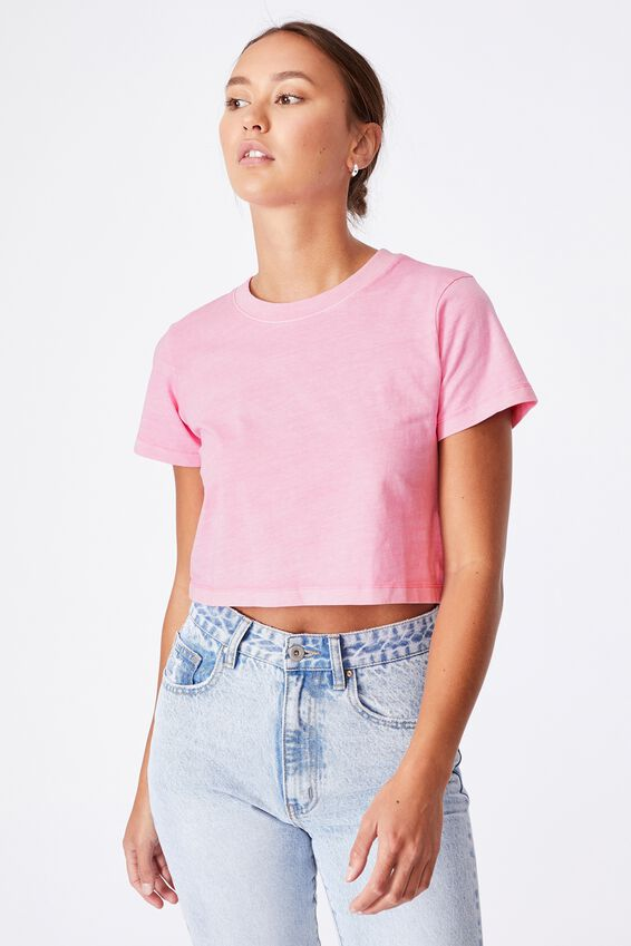 The Baby Tee, WASHED RASPBERRY