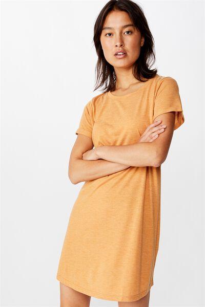 Tina Tshirt Dress 2, SPRUCE YELLOW MARLE