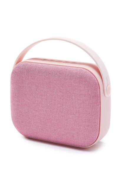 Fabric Wireless Speaker, PLUSH PINK