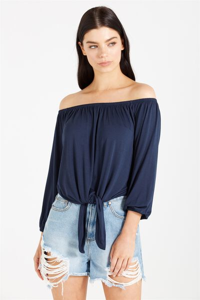 Avery Off The Shoulder Top, MOONLIGHT