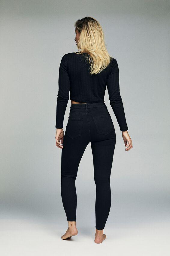 High Rise Grazer Skinny Jean, URBAN BLACK