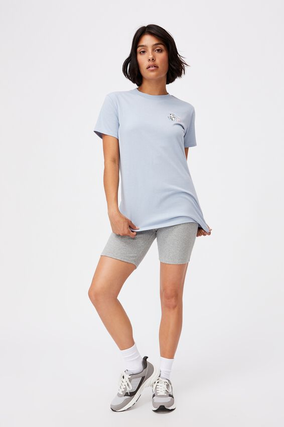 Classic Cny Graphic T Shirt, MOOVIN AND SHAKIN/SILVER BLUE