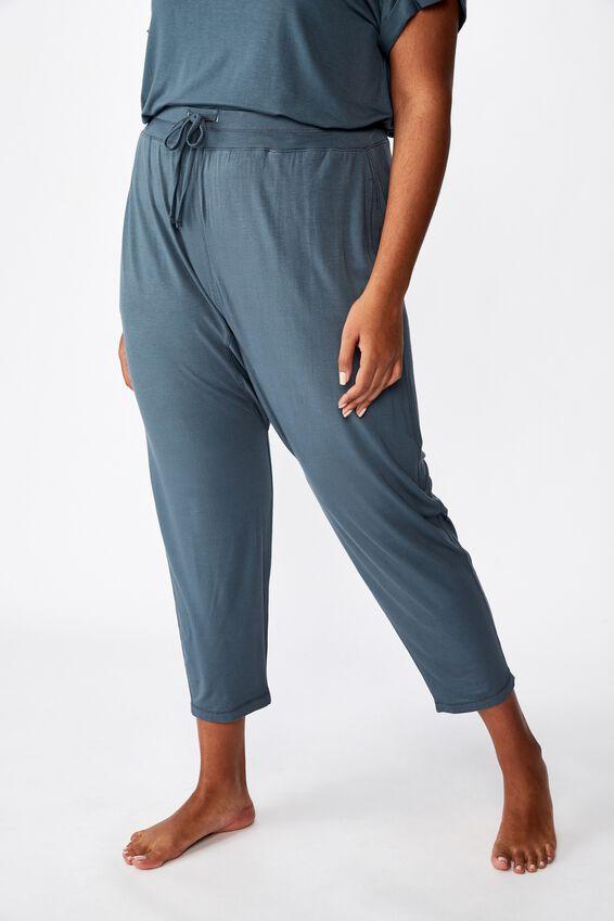 Curve Sleep Recovery Drop Crotch Pant, IRON