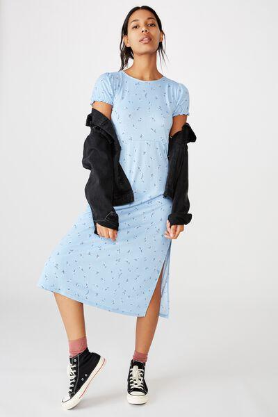 Mackayla Midi Dress, RILEY DITSY CORNFLOWER BLUE