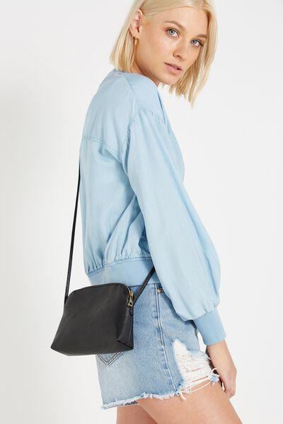 Indie Cross Body Bag, BLACK