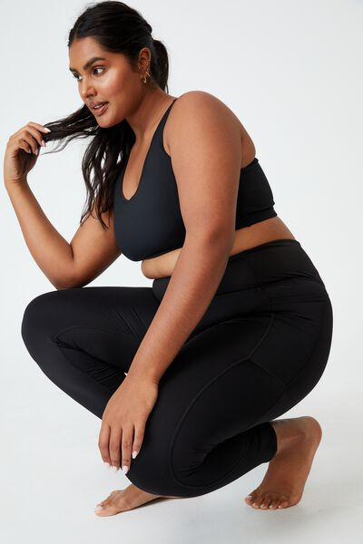 Curve Lifestyle Pocket 7/8 Tight, BLACK