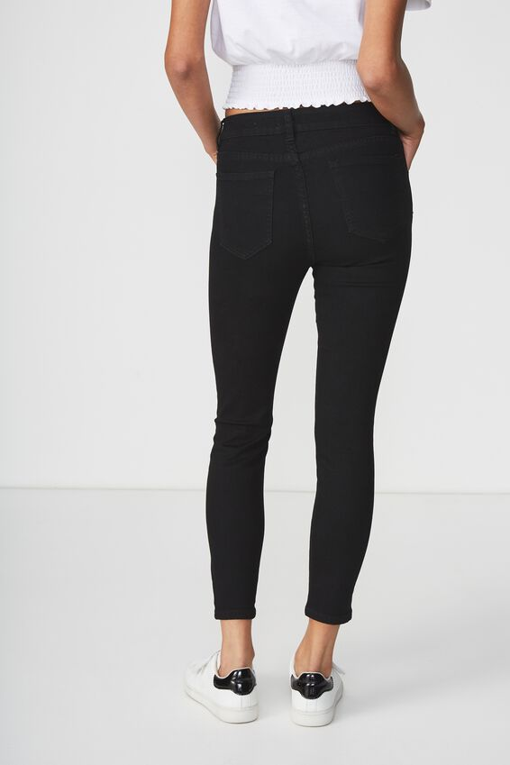 Mid Rise Cropped Skinny Jean 2, CORE BLACK