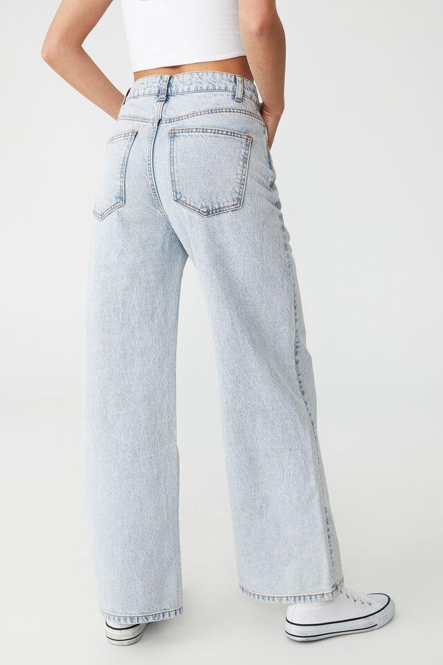 Petite Wide Leg Jean, HENLEY BLUE