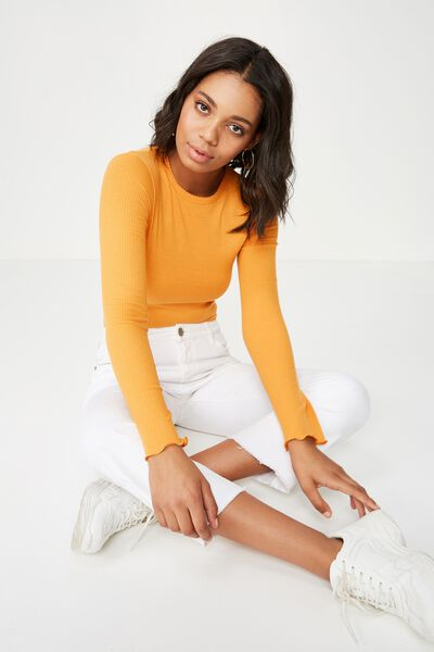 The Sister Long Sleeve Top, BUTTERSCOTCH