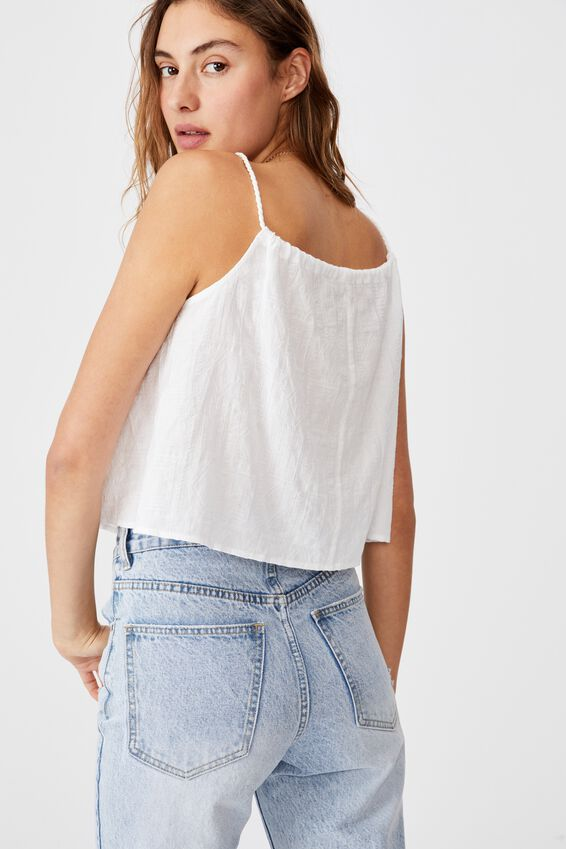 Summer Vibes Relaxed Cami, WHITE