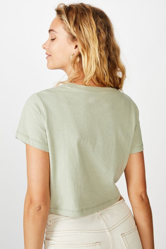 Cara Graphic Crop T Shirt, BEAR EAGLE/LIGHT SAGE