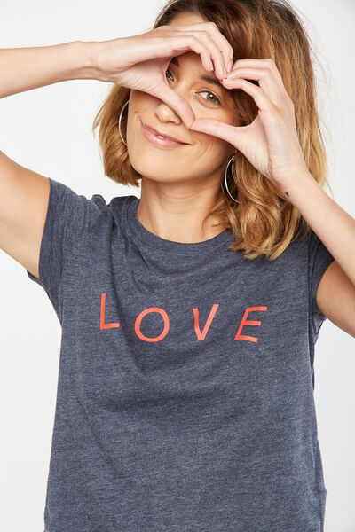 Tbar Friends Graphic Tee, LOVE/MOONLIGHT MARLE