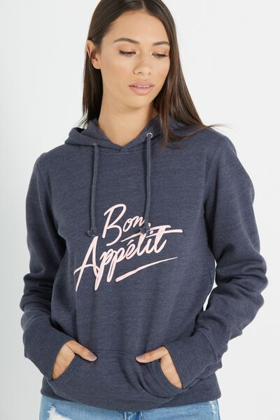 Delevingne Graphic Hoodie, BON APPETIT/MOONLIGHT MARLE