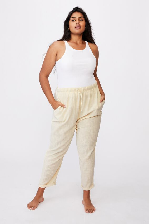 Curve Cali Pull On Pant, WARM LINEN