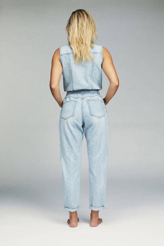 Sleeveless Denim Boiler, BROOKLYN BLUE