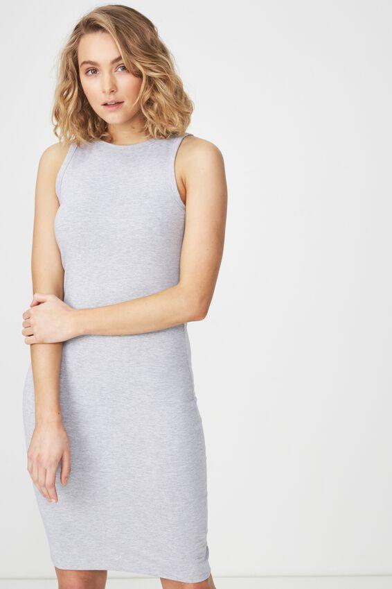 Lena Midi Dress, GREY MARLE