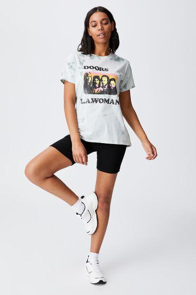 Classic Band T Shirt, LCN MT THE DOORS LA WOMAN TIE DYE/NIMBUS CLOU