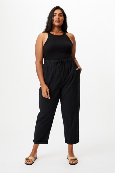 Curve Beach Pull On Pant, BLACK