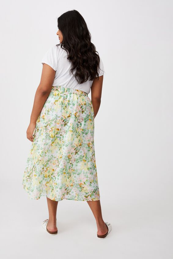 Curve Florence Frill Midi Skirt, SHARNA FLORAL MULTI