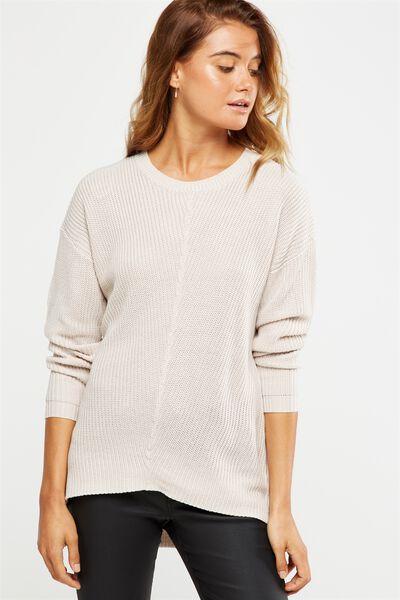 Addison Spliced Pullover, GARGOYLE