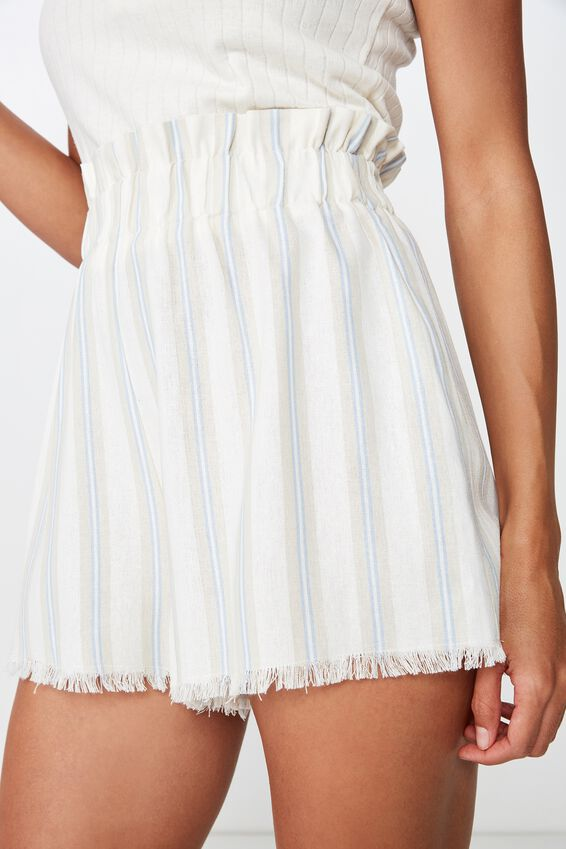 Mila Paperbag Short, ANDREA STRIPE KENTUCKY BLUE