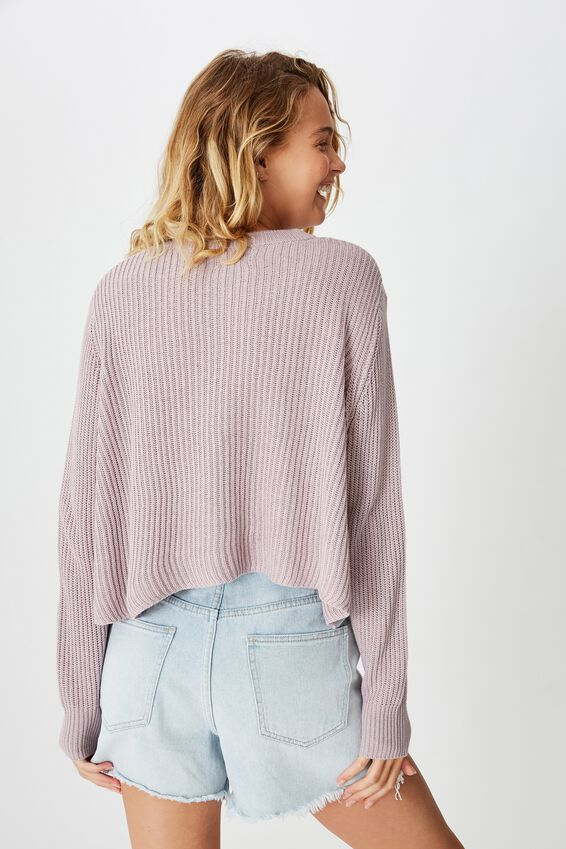 Archy Cropped 2 Pullover, LILAC