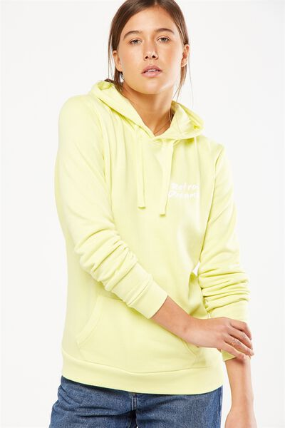 Delevingne Graphic Hoodie, RETRO DREAMS/NEON LIMELIGHT