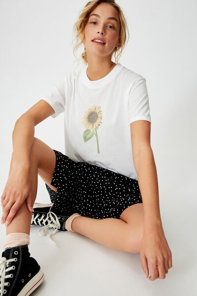 Classic Arts T Shirt, SUNFLOWER/WHITE