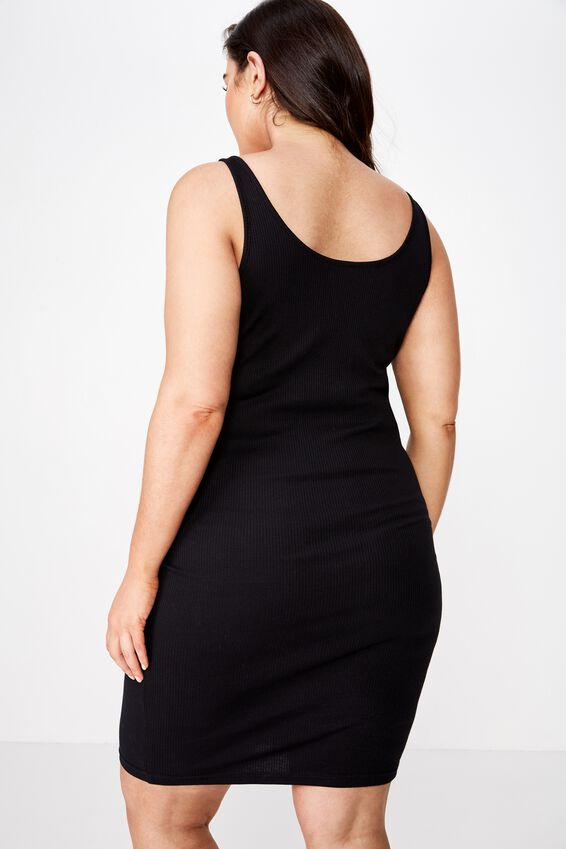 Curve Kaylee Bodycon Midi Dress, BLACK
