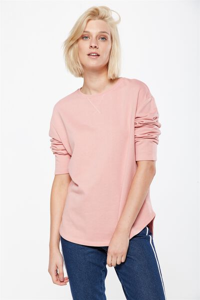 Gomez Light Weight Sweater, PINK BLOSSOM MARLE