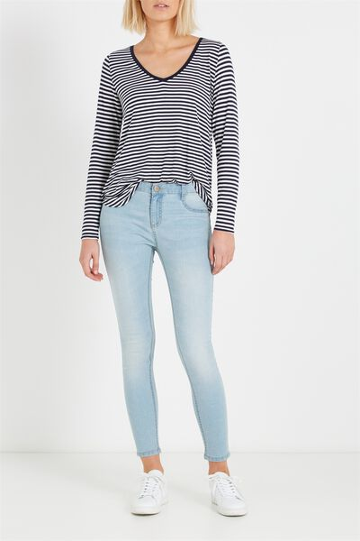 Mid Rise Jegging, SKY STONE BLUE