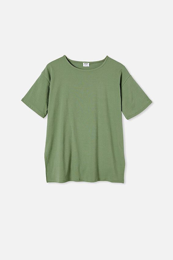 Bella Drop Shoulder Short Sleeve Top, SOFT GREEN